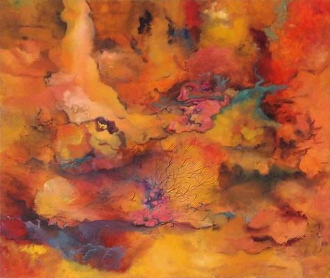 Feuertal  2014; 155 x 130 cm Öl auf Nessel