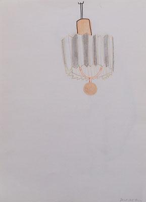 Lampe 2005; Stifte auf Papier