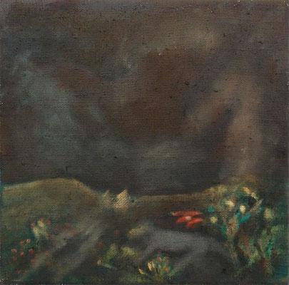 Mondnacht. 2013; 20 x 20 cm Öl auf Leinwand