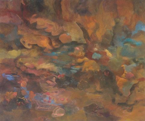 Tropfsteinhöhle 2013; 155 x130 cm Öl auf Nessel
