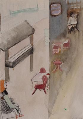 Athen 2004; Aquarell auf Papier