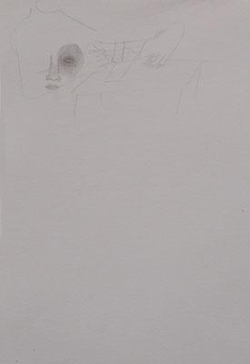 Zerreißprobe 2007; Bleistift auf Papier