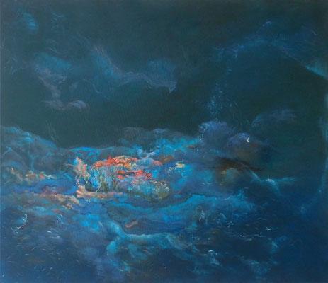 Meeresschaum 2013;180 x 155 cm Acryl auf Nessel