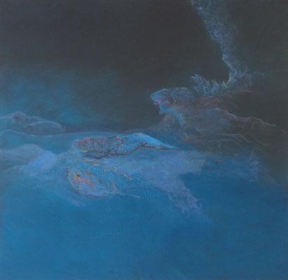 Meeresstille 2013; 160 x 155 cm Acryl auf Nessel