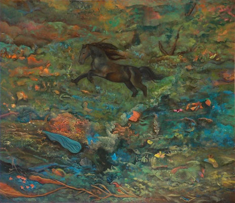 o.T.2013; 155 x 130 cm Öl auf Leinwand
