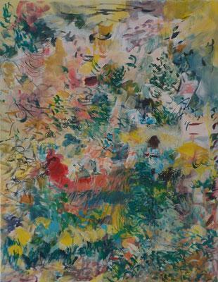 Wenn ein Sturm hereinbricht 2015; Acryl auf Nessel,  55 x 70 cm
