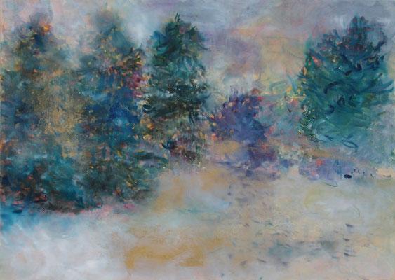 Winter 2015; Öl und Pigmente auf Kreidepaneel 70 x 50 cm