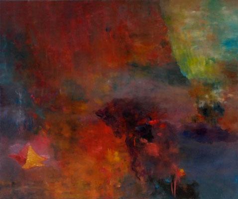 Liebesschlucht 2014; 155 x 130 cm Öl auf Nessel