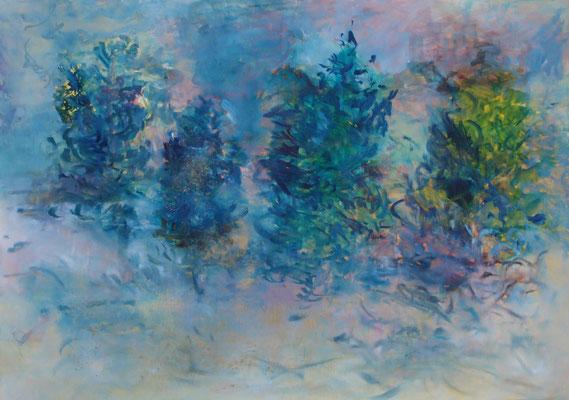 Väterchen Frost 2015; Öl und Pigmente auf Kreidepaneel 70 x 50 cm
