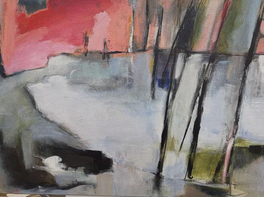 Wald am Meer; 60x80; Acryl