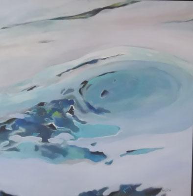 Wasser II, 80x80, Acryl auf Leinwand