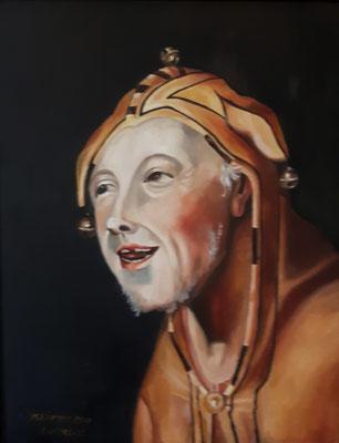 Narr nach Cornelisz, Öl auf Leinwand, 40x50