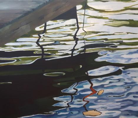 Spiegelung, 120x140, Öl auf Leinwand,