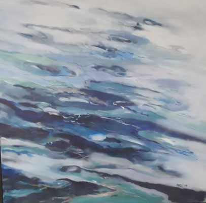 Wasser I, 80x80, Acryl auf Leinwand,