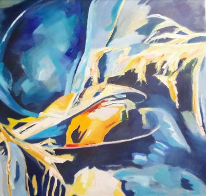 Muscheln, 80x80, Öl auf Leinwand