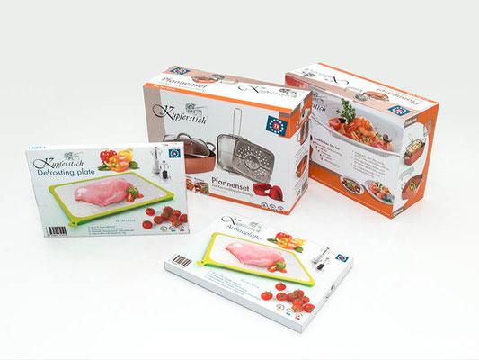 Verpackung für Auftauplatte und Pfannenset