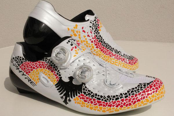 Goldkind Design Custom desined cycling shoes