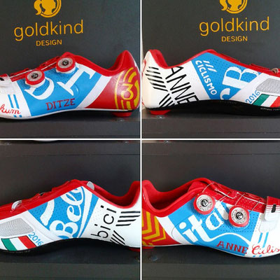 Italy Themed Custom Design Shoes, Goldkind Design