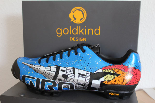 Rocket Custom Design Shoes, Goldkind Design