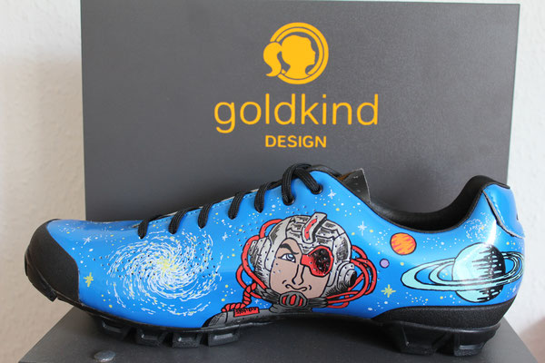 Space Custom Design Shoes, Goldkind Design