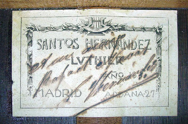 Santos Hernandez 1930 - Guitar 3 - Photo 5