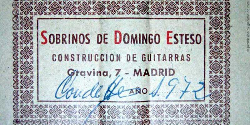 HERMANOS CONDE - SOBRINOS DE ESTESO 1972 - LABEL - ETIKETT - ETIQUETA