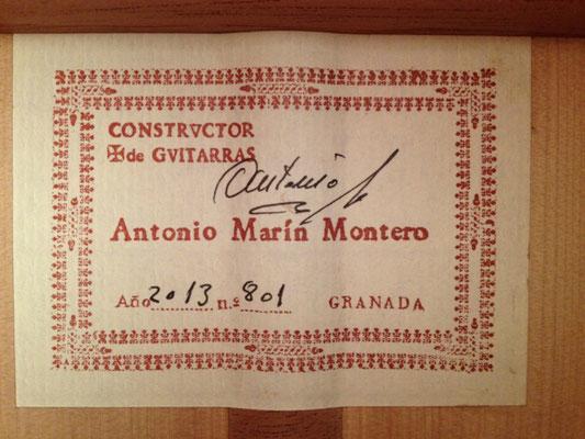 Antonio Marin Montero 2013 - Guitar 3 - Photo 13