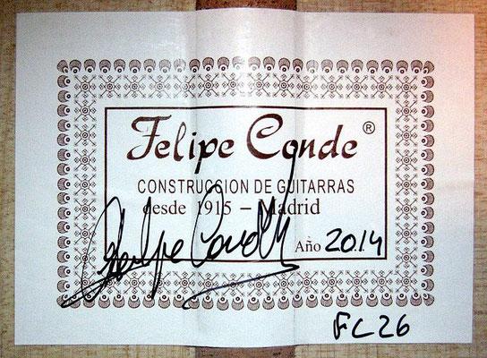 Felipe Conde 2014 - Guitar 5 - Photo 1