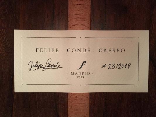 Felipe Conde Crespo 2018 - Guitar 3 - Photo 3