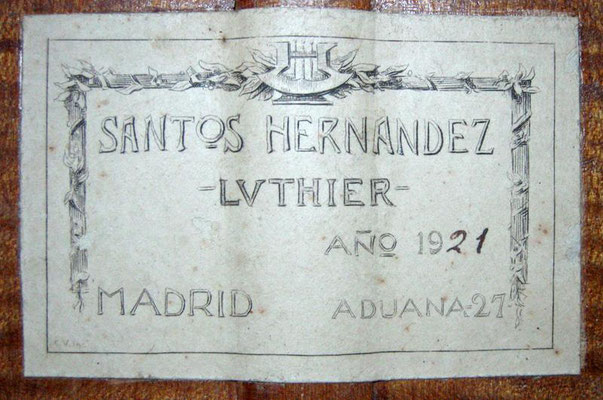 Santos Hernandez 1921 - Guitar 1 - Photo 4