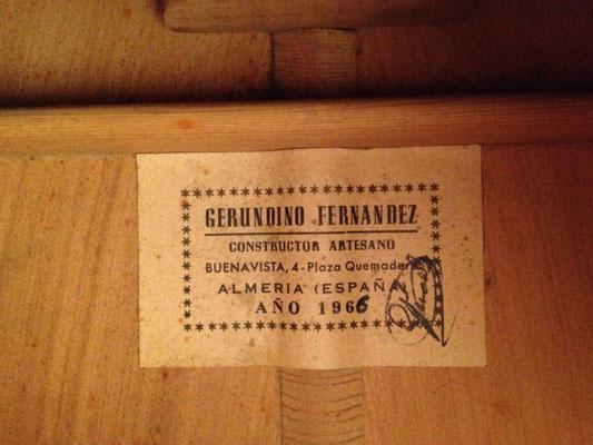 Gerundino Fernandez 1966 - Guitar 2 - Photo 3