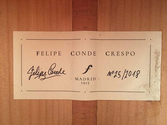 Felipe Conde Crespo 2018 - Guitar 5 - Photo 3