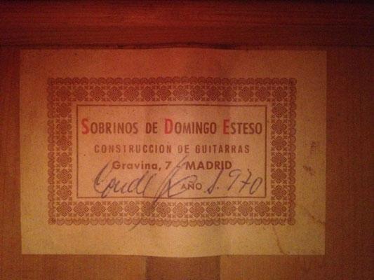SOBRINOS DE DOMINGO ESTESO 1970 - Guitar 3 - Photo 4