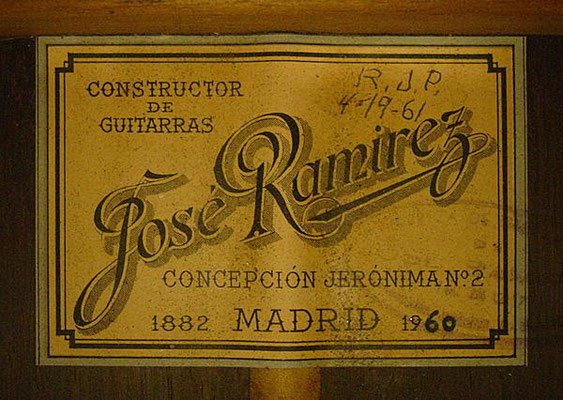 Jose Ramirez 1960 - Guitar 1 - Photo 6