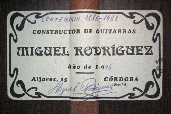 Miguel Rodriguez 1995 - Guitar 3 - Photo 4