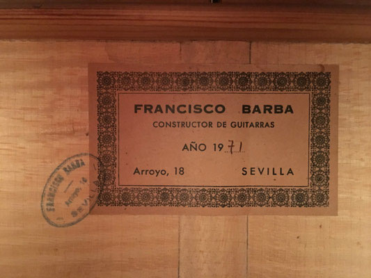 Francisco Barba 1971 - Guitar 2 - Photo 3