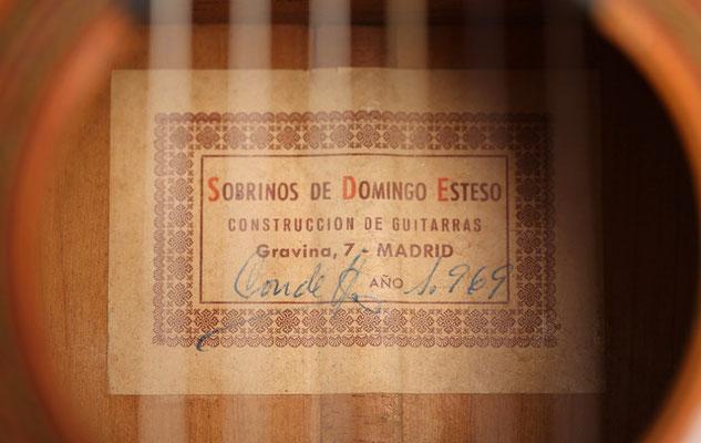 SOBRINOS DE DOMINGO ESTESO - 1969 - Guitar 2 - Photo 8