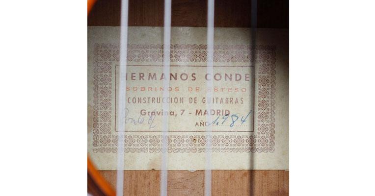 Hermanos Conde 1984 - Sobrinos de Esteso - Guitar 6 - Photo 4