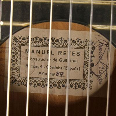 Manuel Reyes 1989 - Guitar 7 - Photo 12