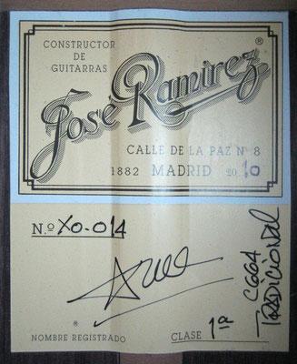 Jose Ramirez 2010 - Guitar 1 - Photo 9