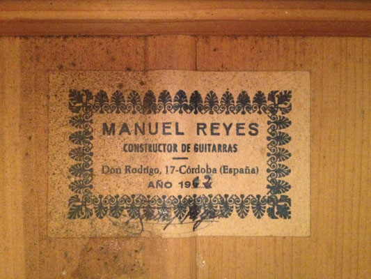 Manuel Reyes 1962 - Guitar 1 - Photo 2