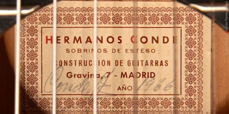 HERMANOS CONDE - SOBRINOS DE ESTESO 1966 - LABEL - ETIKETT - ETIQUETA