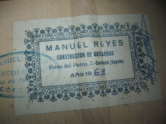 Manuel Reyes 1968 - Guitar 2 - Photo 1