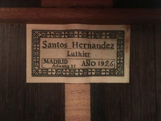 Santos Hernandez 1926 - Guitar 1 - Photo 5