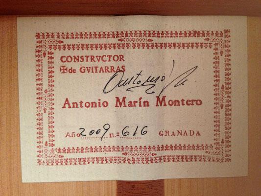 Antonio Marin Montero 2009 - Guitar 5 - Photo 6