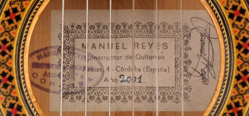 Manuel Reyes 2001 - Guitar 1 - Photo 11