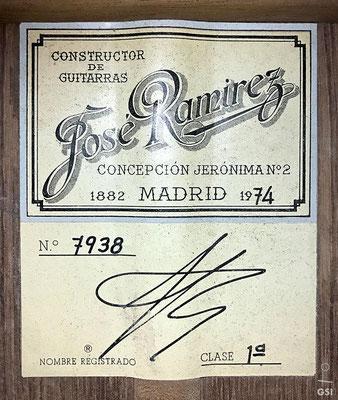 Jose Ramirez 1974 - Guitar 4 - Photo 6