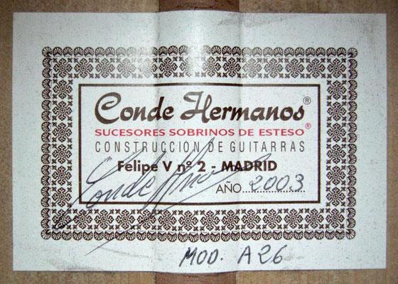 Hermanos Conde 2003 - Guitar 2 - Photo 3