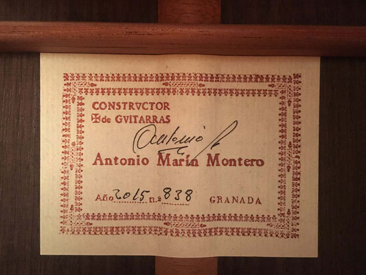 Antonio Marin Montero 2015 - Guitar 3 - Photo 3