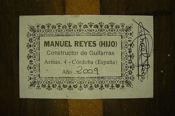 Manuel Reyes Hijo 2009 - Guitar 1 - Photo 6